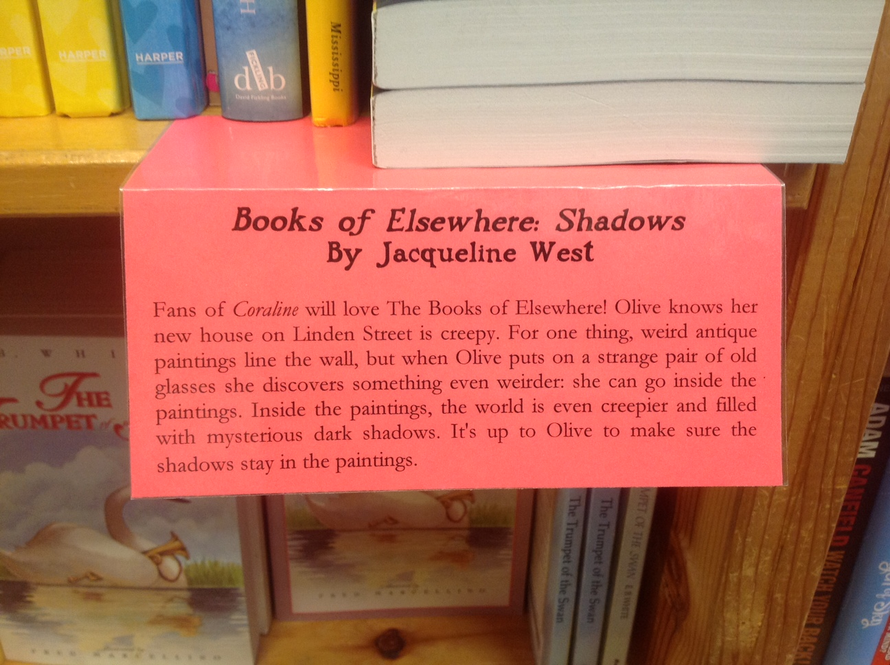 Sign at Powells